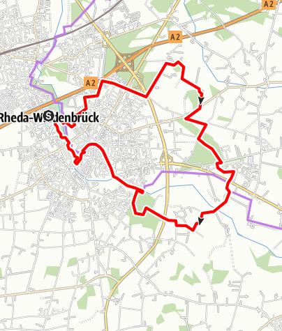 """Karte / R7 Wiedenbrück und """"Drumherum"""" - Die Sonntagstour"""