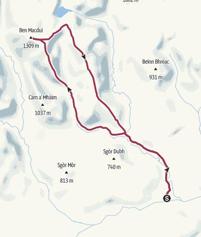 Map / Ben Macdui to Linn of Dee