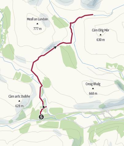 Map / Linn of Dee to Glen Quoich
