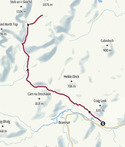 Map / Invercauld to Ben Avon