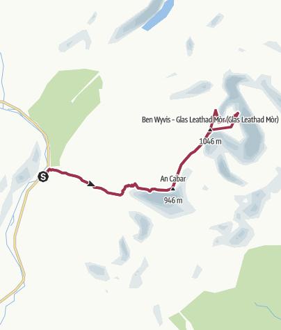 Map / Ben Wyvis, near Garve