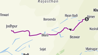 Mappa / Percorso,da pushcar a Jodhpur