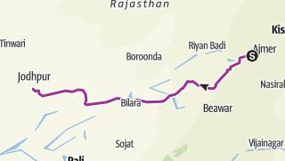 Térkép / Percorso,da pushcar a Jodhpur