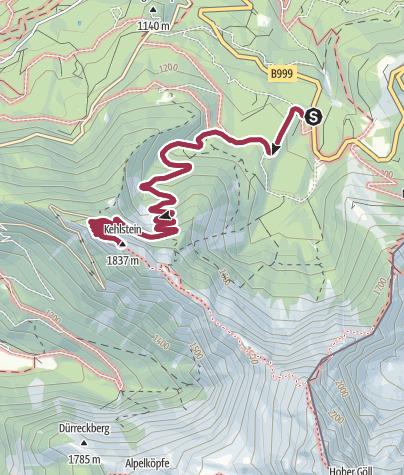 Karte / Wanderung zum Kehlsteinhaus