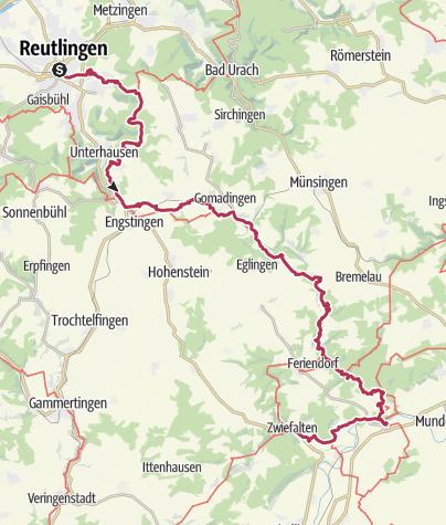 Karte / Der Burgenweg - Eine Reise zurück ins Mittelalter