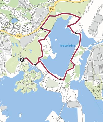 Kart / Torslandaviken runt