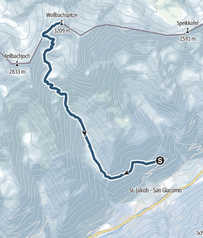 Karte / Skitour Wollbachspitze