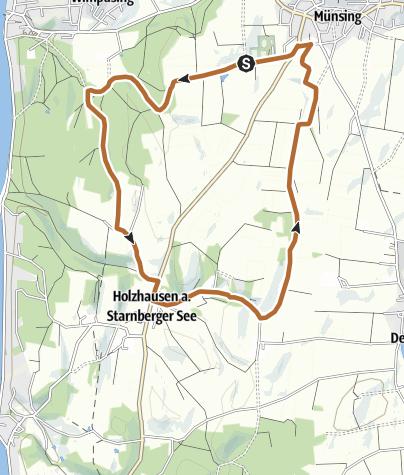 Karte / Route 19: Vital-Brunnen-Route
