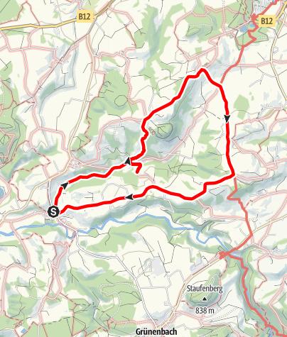 Karte / Gestratz Rundweg Schweineburg