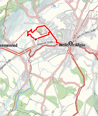 Karte / Weiler-Simmerberg R7 Kleiner Kurweg