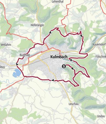 Karte / Edelmann-Ringweg Kulmbach