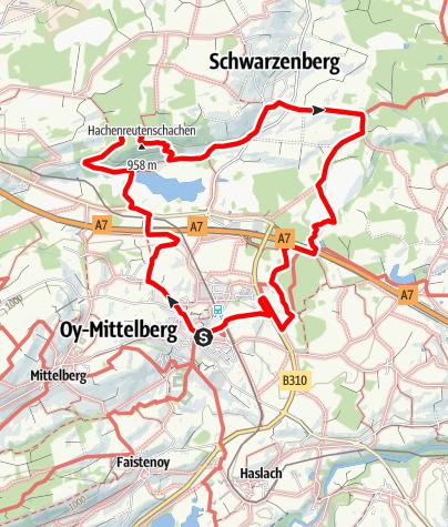 Karte / Zum Schwarzenberger Weiher - Oy-Mittelberg