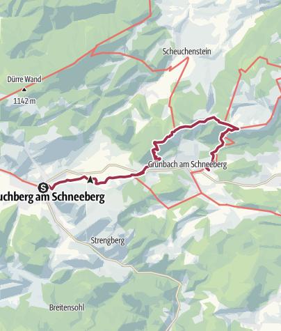 Karte / Puchberg-Naturpark Hohe Wand-Grünbach