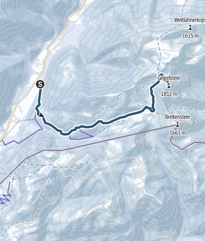 Karte / Skitour: Geigelstein im Chiemgau