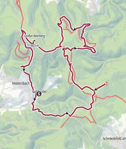 Thüringer Wald Karte.Der Gipfelwanderweg Im Thüringer Wald Wanderung Outdooractive Com