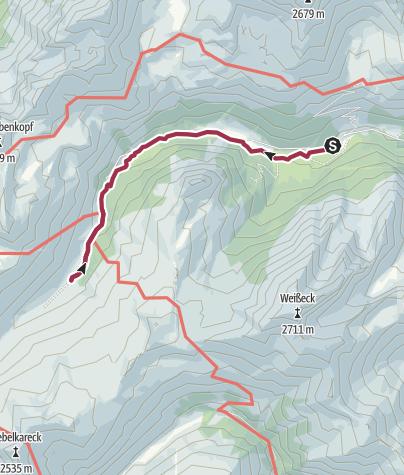 Karte / Riedingtaler Almwanderung