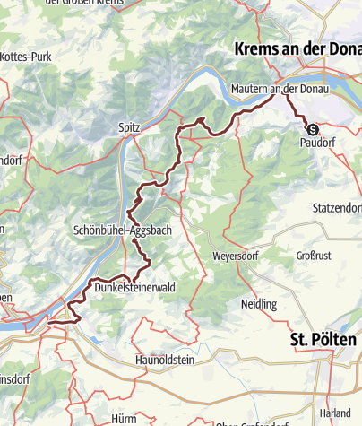 Karte / Jakobsweg Donau: Stift Göttweig - Melk