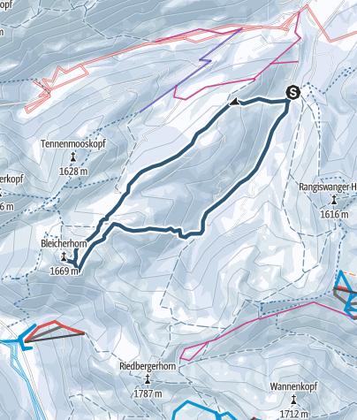 Karte / Von Gunzesried auf das Bleicher Horn und Höllritzereck