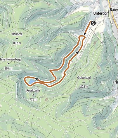 Karte / NW Tour 2 - Sankenbachsee in Baiersbronn