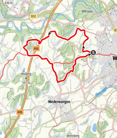 """Karte / Wanderrundweg 2: """"Über Nieratz, Bürsten und Humbrechts"""""""