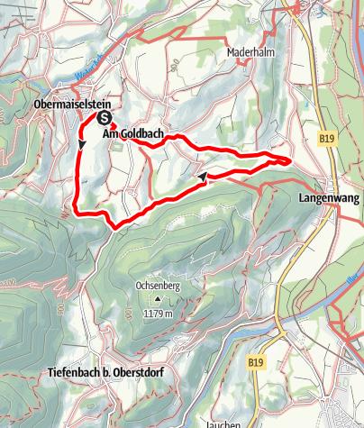 Karte / Langenwang-Spazierweg ab Obermaiselstein