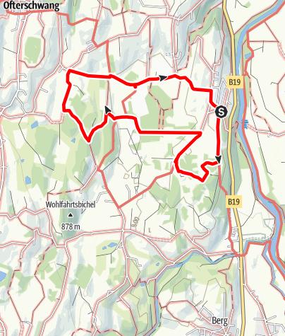 Karte / Moos Rundweg - Spazieren um das Tiefenberger Moos bei Ofterschwang