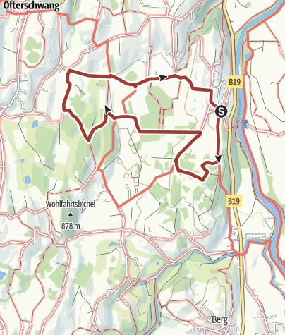 Map / Moosrundweg - walk around the Tiefenberger bog near Ofterschwang