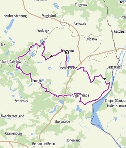Karte / Uckermärkischer Radrundweg