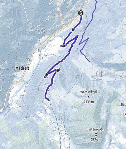 Karte / Grieralm bei Tux
