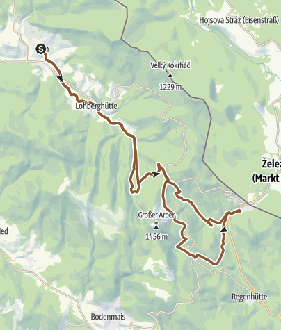 Karte / Von Lam über die Höhe nach Bayerisch Eisenstein