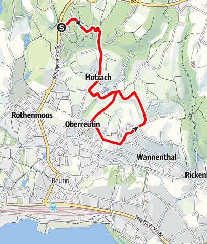 Karte / Lindau R8 Motzacher Runde