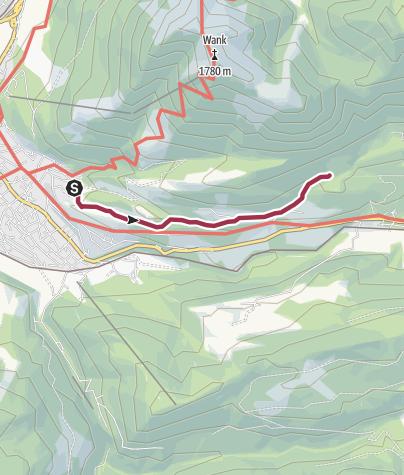Karte / Zum Berggasthof Gschwandtnerbauer über die Pfeiffer-Alm