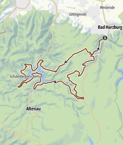 Karte / Zum Torfhaus-Gipfel