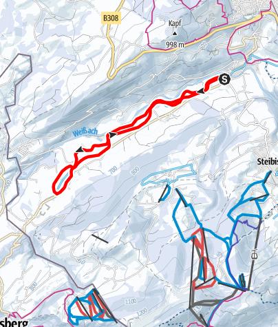 Karte / Weißachtal-Loipe