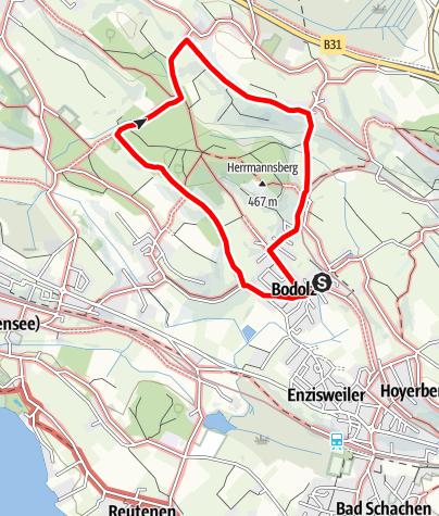 Karte / Bodolz R2 Wanderweg 2