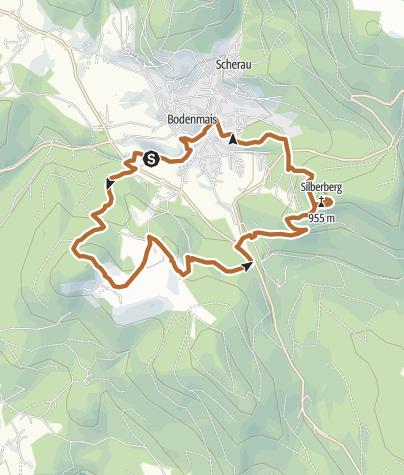 Karte / Zwei Gipfel von Bodenmais