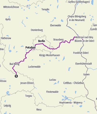 Karte / Europaradweg R1