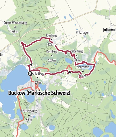 Karte / Durch das Stobbertal bei Buckow
