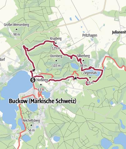 Mapa / Durch das Stobbertal bei Buckow
