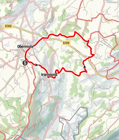 Karte / Oberreute: Wanderung zum Kräutergarten Artemisia