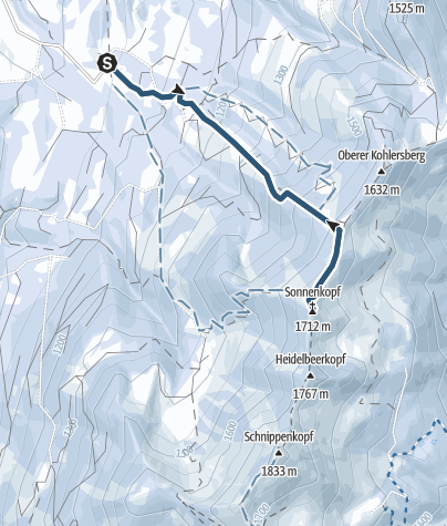 Karte / Von Hinang auf den Sonnenkopf