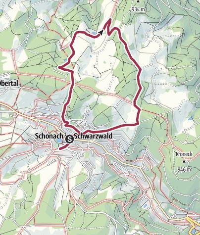 Map / Schonach - Zur Laubwaldkapelle übers Holz