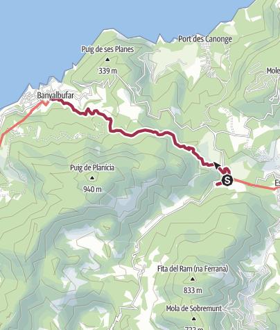 Karte / Auf dem Postweg nach Banyalbufar