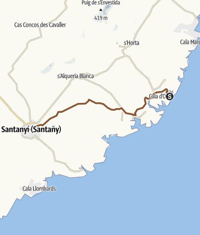 Map / CALA FERRERA - Santanyí