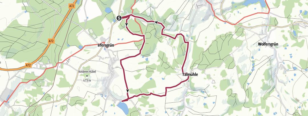 Cartina / Kurzwanderung zwischen Loch- und Talmühle