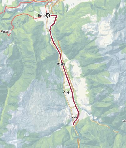 Karte / Bonaduz-Thusis
