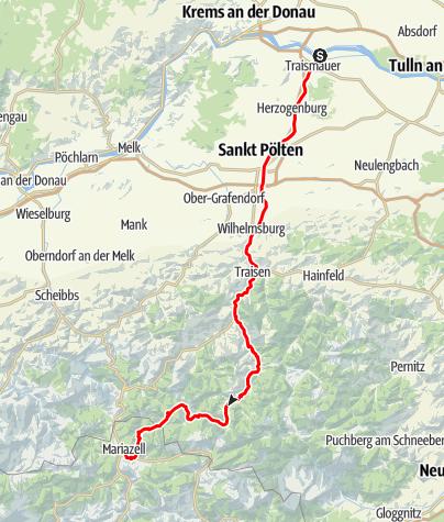 Karte / Traisental-Radweg