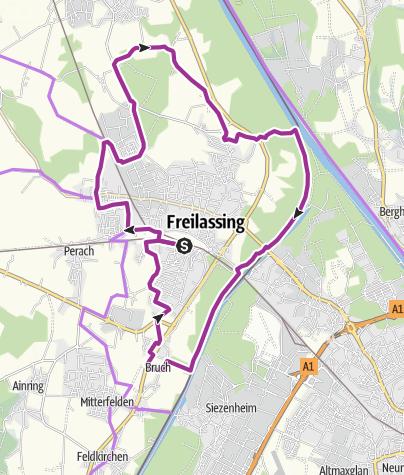 Karte / Rad: Freilassinger Radrundweg