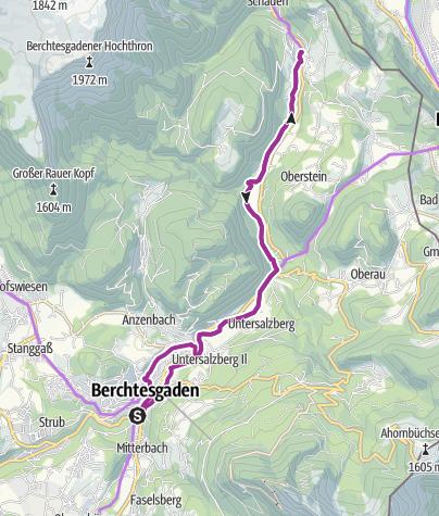 Karte / Rad: Berchtesgadener Radstern Ost