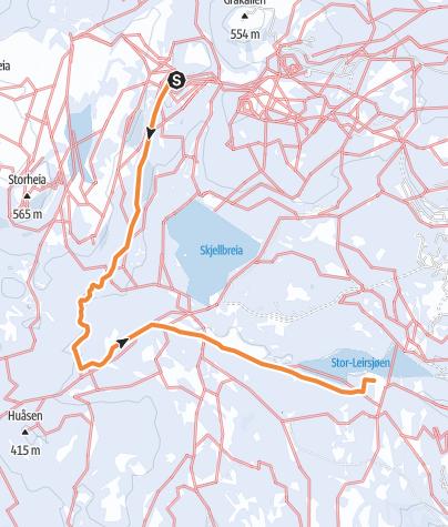 Mappa / Faunakartlegging - Linje 4 - Vintervasshøgda